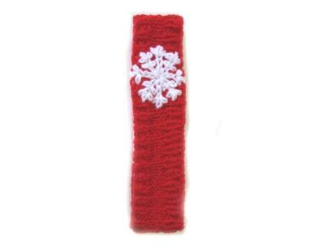 "KSS Red Knitted Headband with Snowflake 15-17"" (1-2 Years)"