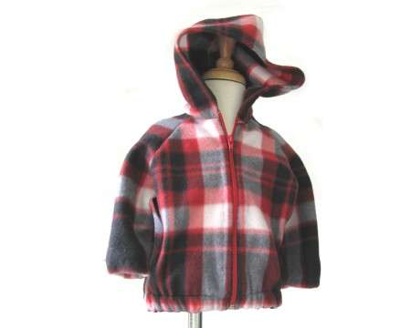 KSS Country Plaid Hooded Fleece Jacket (1 - 3 Years)