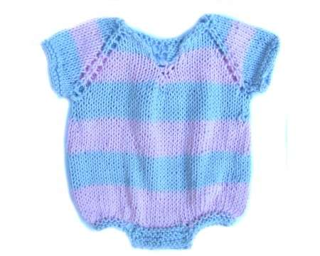KSS Cotton Pink and Light Blue Colored Onesie 6 Months