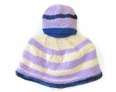 KSS Blue/Lilac Colored Kids Poncho 0 - 4 Years