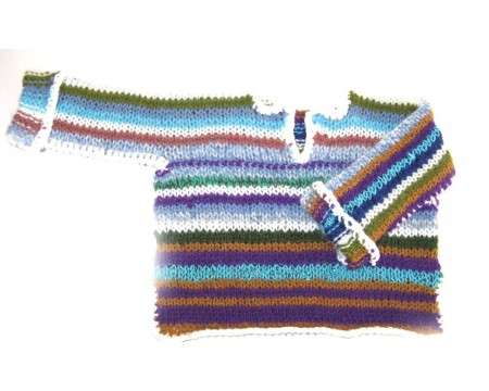 KSS Earth Striped Acrylic Sweater (12-24 Months)