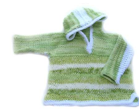 KSS Light Green and White Cotton Sweater 18 Months