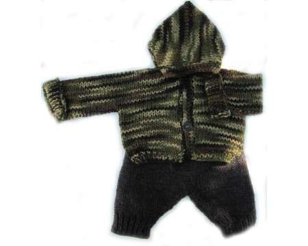 KSS Earth Camouflage Hooded Sweater & Pants (6 Months)