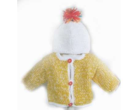 KSS Yellow/White Sweater/Jacket (9-12 Months)