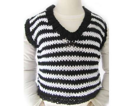 KSS Traditional Black/White Sweater Vest (2 - 3 Years)