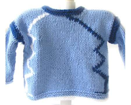 KSS Blue and White Pullover Sweater (3-4 Years)