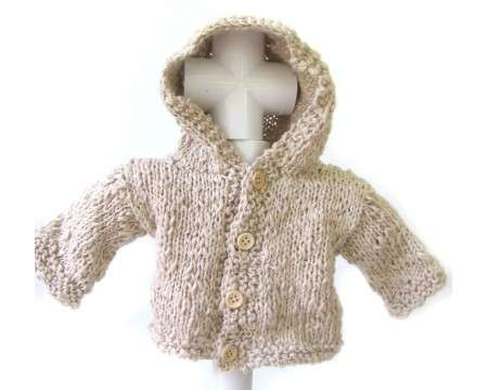 KSS Sand Cotton Hooded Sweater/Jacket (3 Months)