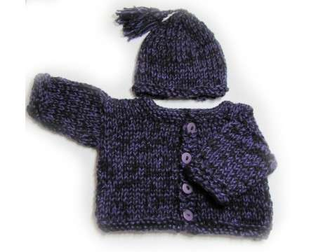 KSS Purple Rain Sweater/Jacket and Hat set 2 Years