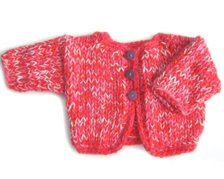 KSS Red Heavy Knitted Sweater/Jacket (18 Months)