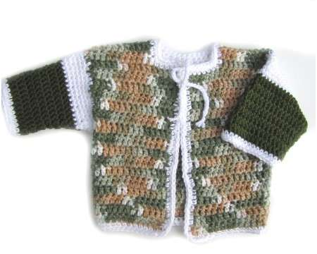 KSS Camouflage Heavy Knitted Sweater/Jacket (18 Months)