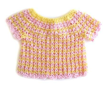 KSS Pink and Yellow Short Sleeve Sweater 2 Years/3T