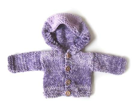 KSS Purple Hooded Cotton Baby Sweater/Jacket 3 Months