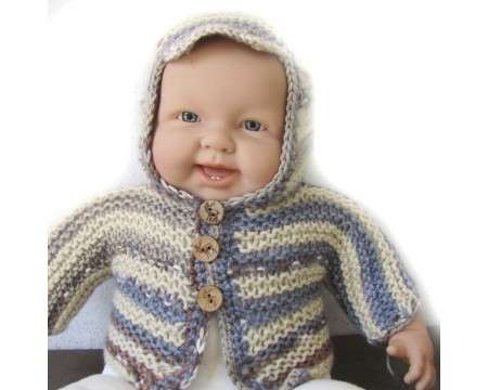KSS Grey/Yellow Hooded Baby Sweater/Jacket 3 Months