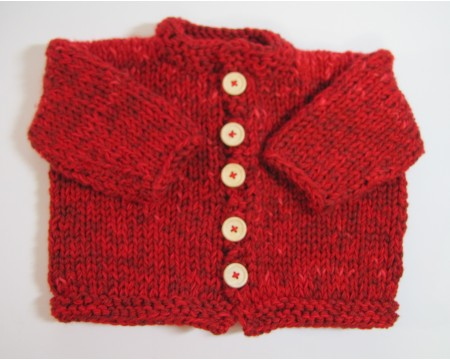 KSSHeavy Bright Red Baby Sweater/Jacket (18 Months)