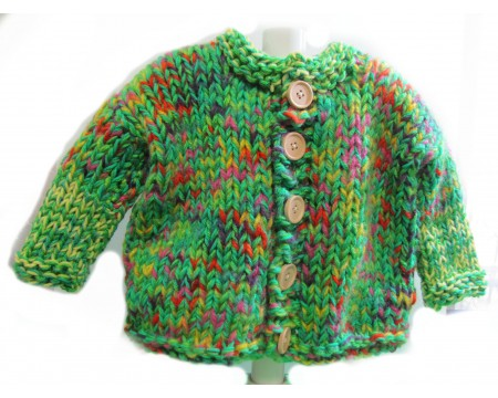 KSS Heavy Green Colorful Sweater/Cardigan (3 Years)