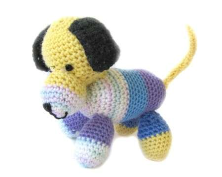 "KSS Crocheted Puppy Dog 7"" x 6\"""