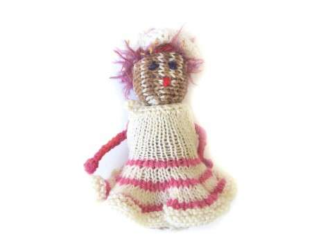 "KSS Knitted with a Dress Doll 6"" long"