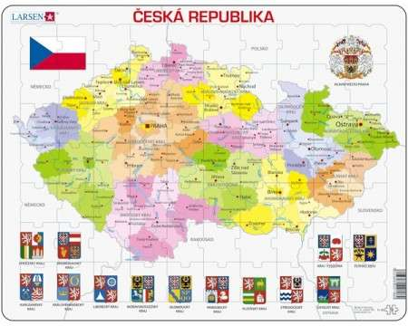 Larsen Map Czech Republic Puzzle 56 pcs 022148 K48