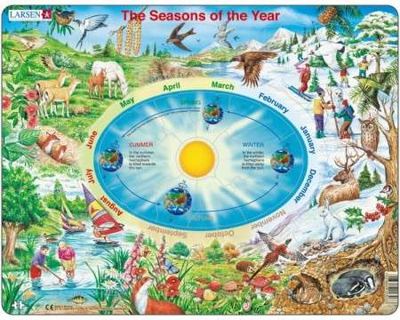 Larsen The Seasons of the Year Puzzle 44 pcs 022303 SS3