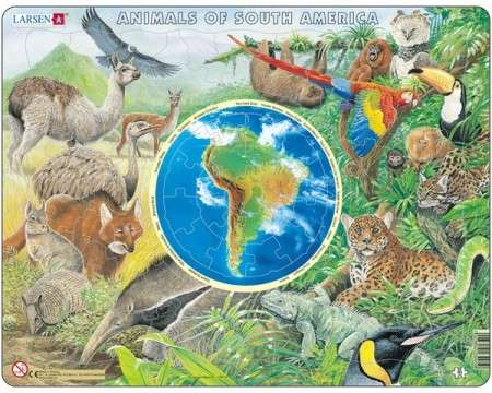 Larsen Animals of South America Puzzle 90 pcs 023205 AW5