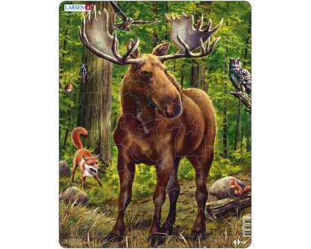 Larsen Moose in Norweigan Woods Puzzle 53 pcs 023505 DT5