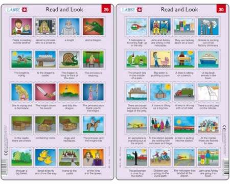 Larsen Read and Look 29+30 Puzzles 40 pcs 03231 RA15