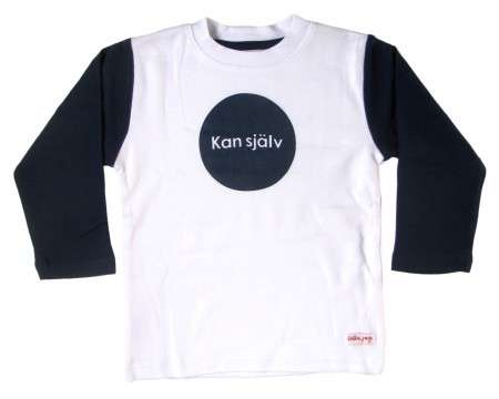 "Liten Jag T-shirt ""Kan själv\"" (Do it myself) Navy 2 - 3 Years"