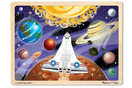 Melissa & Doug Space Voyage Wooden Jigsaw Puzzle (48 pc)