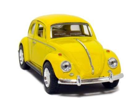 Classic Die-cast VW 1867 Beetle Yellow