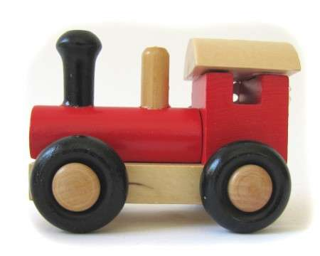 SWE-DEN Wooden Locomotive Red