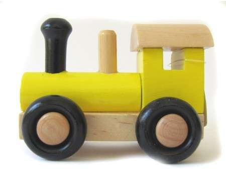 SWE-DEN Wooden Locomotive Yellow