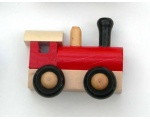 Red Wooden Train Magnets for the Fridge 20837-RED SWE-DEN-20837-RED