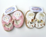 Teddykompaniet Diinglisar Cat & Cow Baby Booties (6-12 Months) TEDDY-1637-CAT-COW